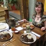 Mole Essen in der Biznaga in Queretaro