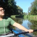 Mit unserem mexikanischen Freund Ruben im Spreewald
