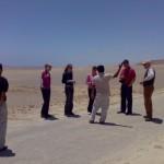 Wer macht die Leckprobe auf der Salzstraße in der Reserva Nacional Paracas?