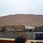 El Candelabro auf dem Weg zu den Islas Ballestas