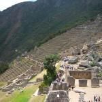 Blick über die Ruinen zum Sonnentor - Machu Picchu