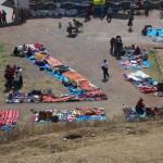Der Sonntagsmarkt in Chinchero - in der Mittagszeit wie ausgestorben