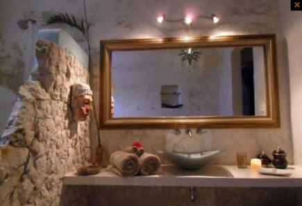 Badezimmer Hacienda Sacnicte