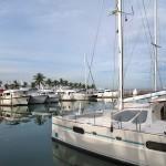 Blick auf den Hafen vor dem Hotel Marina La Paz
