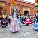Umzug Dia de los Muertos in Oaxaca Stadt