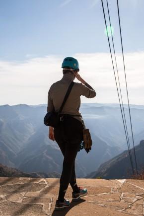 Soll ich dieses Risiko eingehen? ...fragt sich Sarah 2017 im Kupfer Canyon