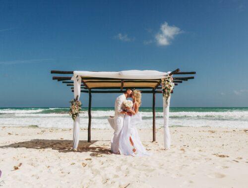 Heiraten am Strand von Mexiko